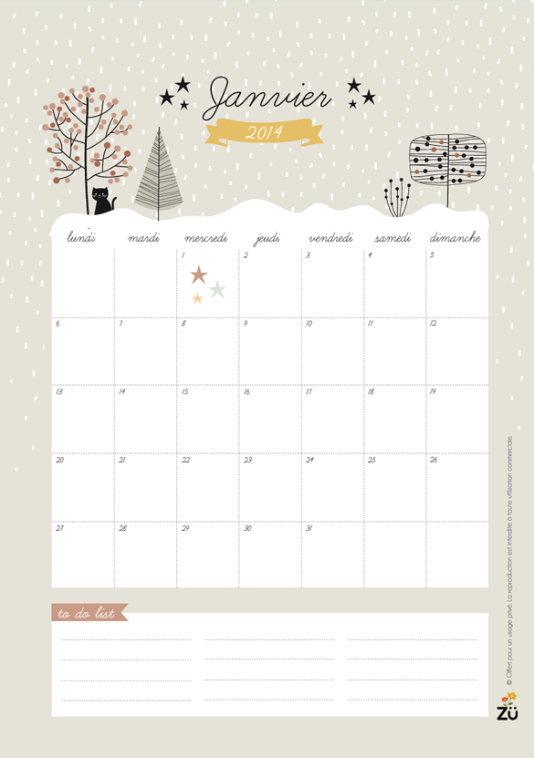 free printable french 2014 calendar by zugalerie so lovely