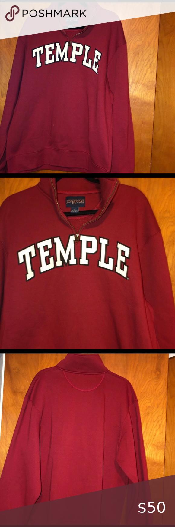 Jansport Temple University Owls Sweatshirt L Sweatshirts Owl Sweatshirt Sweatshirt Shirt [ 1740 x 580 Pixel ]