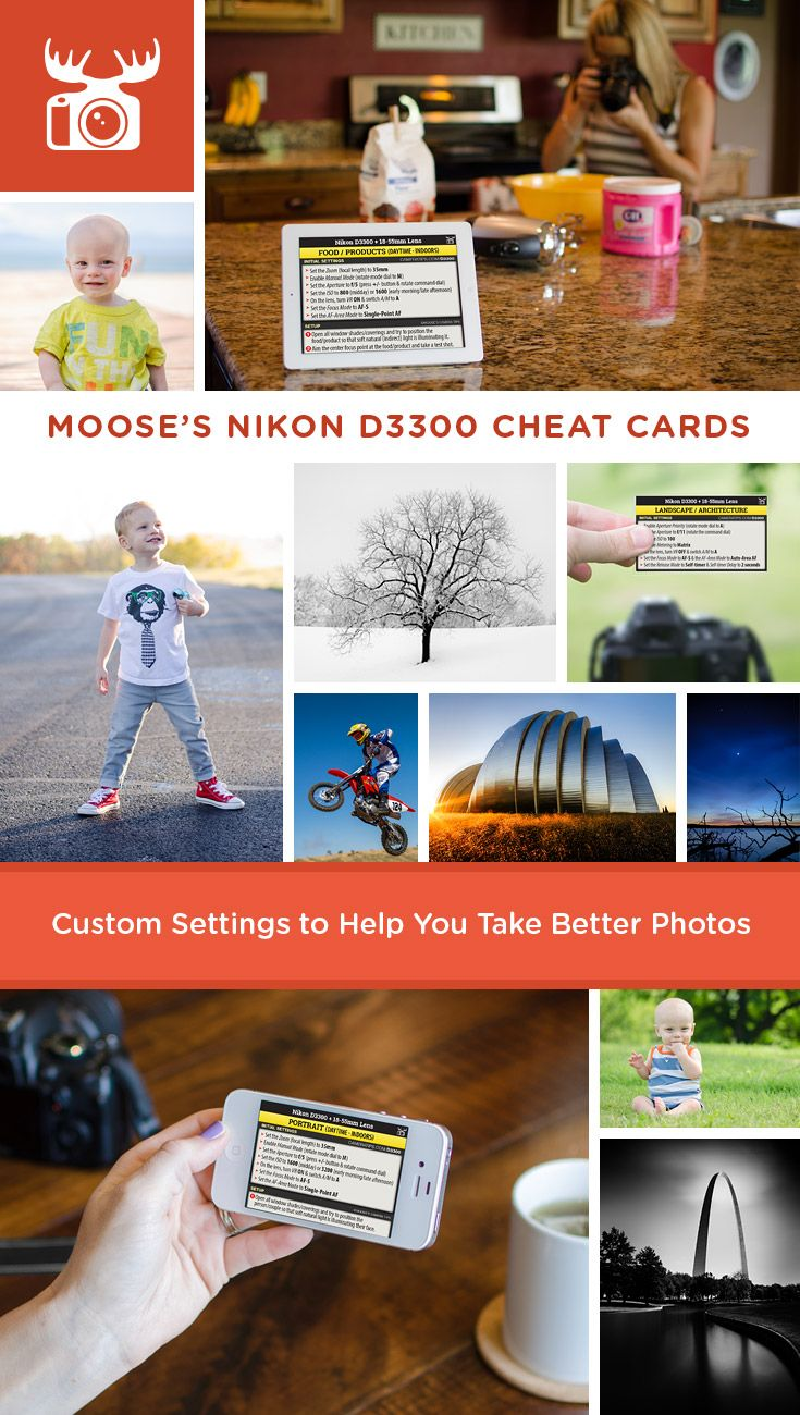 moose u0027s nikon d3300 cheat sheets for beginners photography