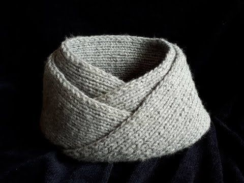 Bufanda infinita / Cuello para hombre facil y rapido tejido en dos ...