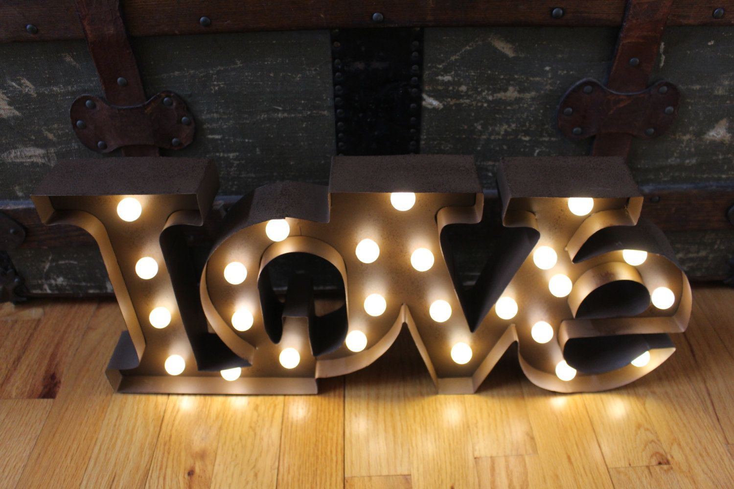 Love Decor Signs Lighted Love Marquee Signmetal Letterrustic Weddingvintage Home