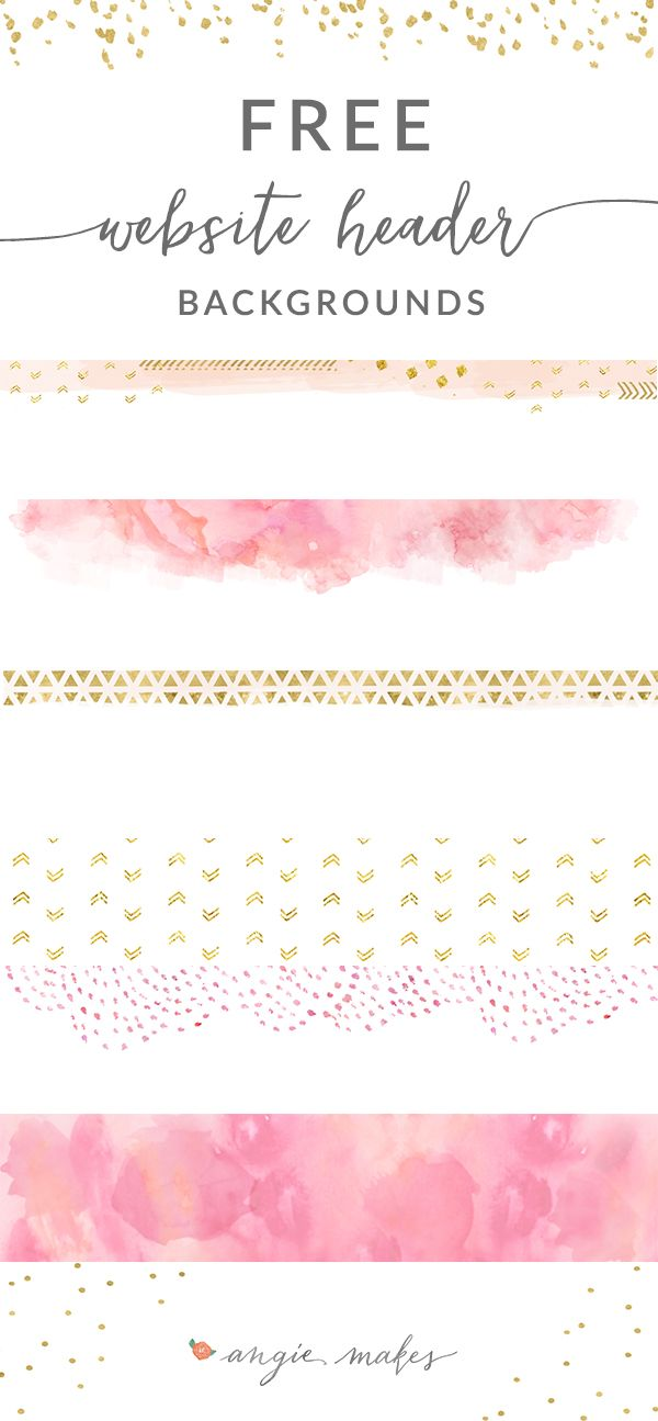 Free Pink + Gold Website Header Backgrounds | ♥ Graphic Freebies ...