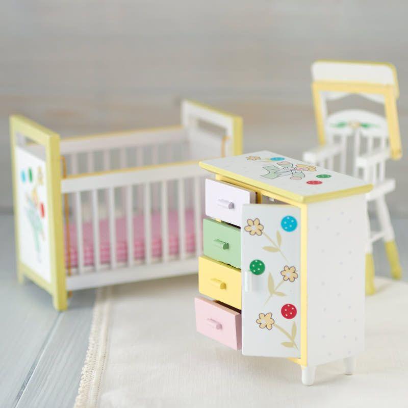 Dollhouse Miniature Baby Nursery Set