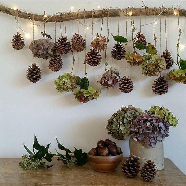 BO BEDRE on Instagram: Hent naturen ind på en ny og anderledes måde  Regram: @harryandfrank #natur #dekoration #kogler #blomster #gren #bobedre