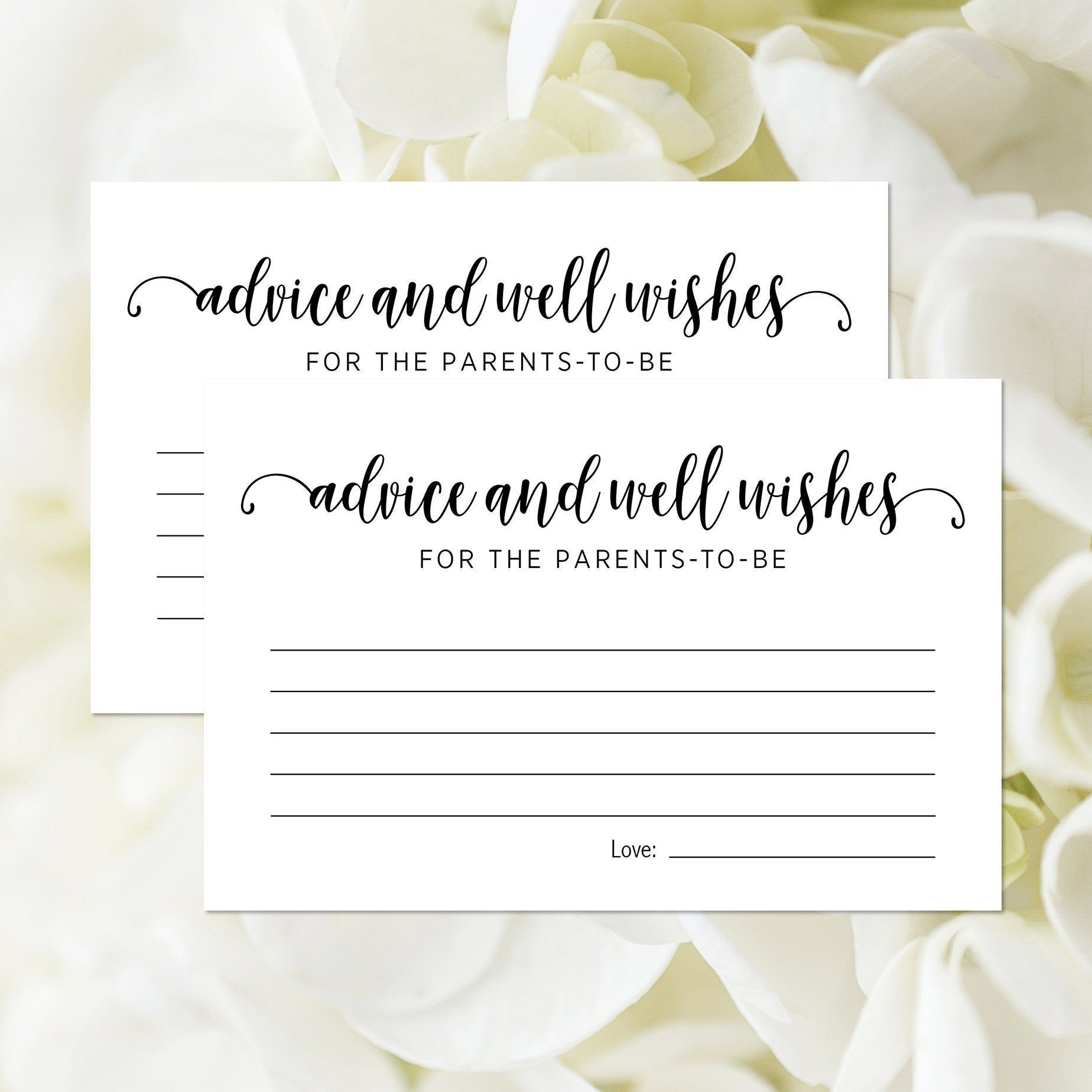 Printable Advice And Well Wishes For The Parents To Be Card Baby Shower Advice Card Ba Baby Shower Advice Cards Baby Shower Advice Baby Shower Favor Stickers