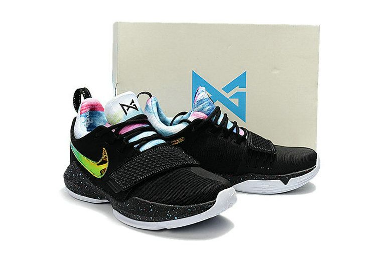 f6c41da0d68 Latest and Cheapest Young Nike PG 1 EYBL Multi Anthracite 942303-001 Big  Boys Basketball Shoes 2018