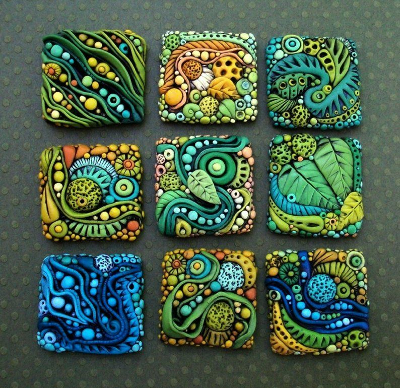Photo of Tiny Textured Tiles A Polymer Clay PDF Tutorial Inchie | Etsy