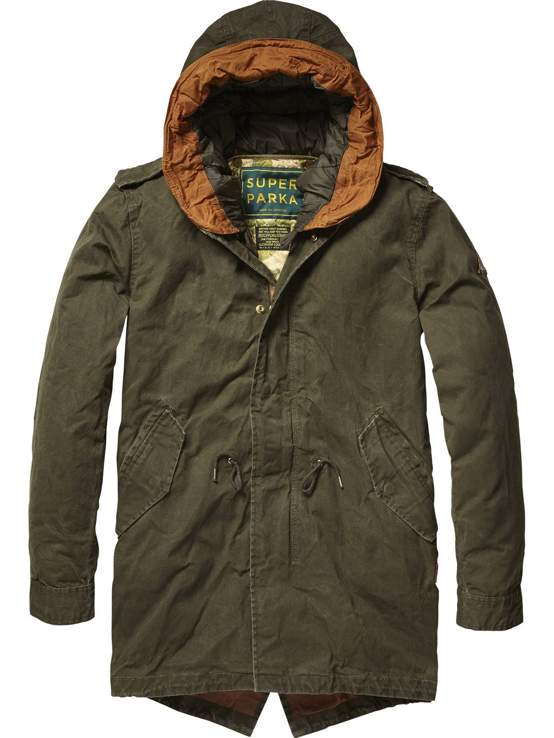 Classic Cotton Parka | Jackets | Men's Clothing at Scotch & Soda