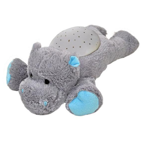 Twilight Buddies, Hippo fra Cloud b  oplyser børneværelset med skinnende stjerner. Natlampen virker beroligende og hjælper børn med sove trygt om natte...