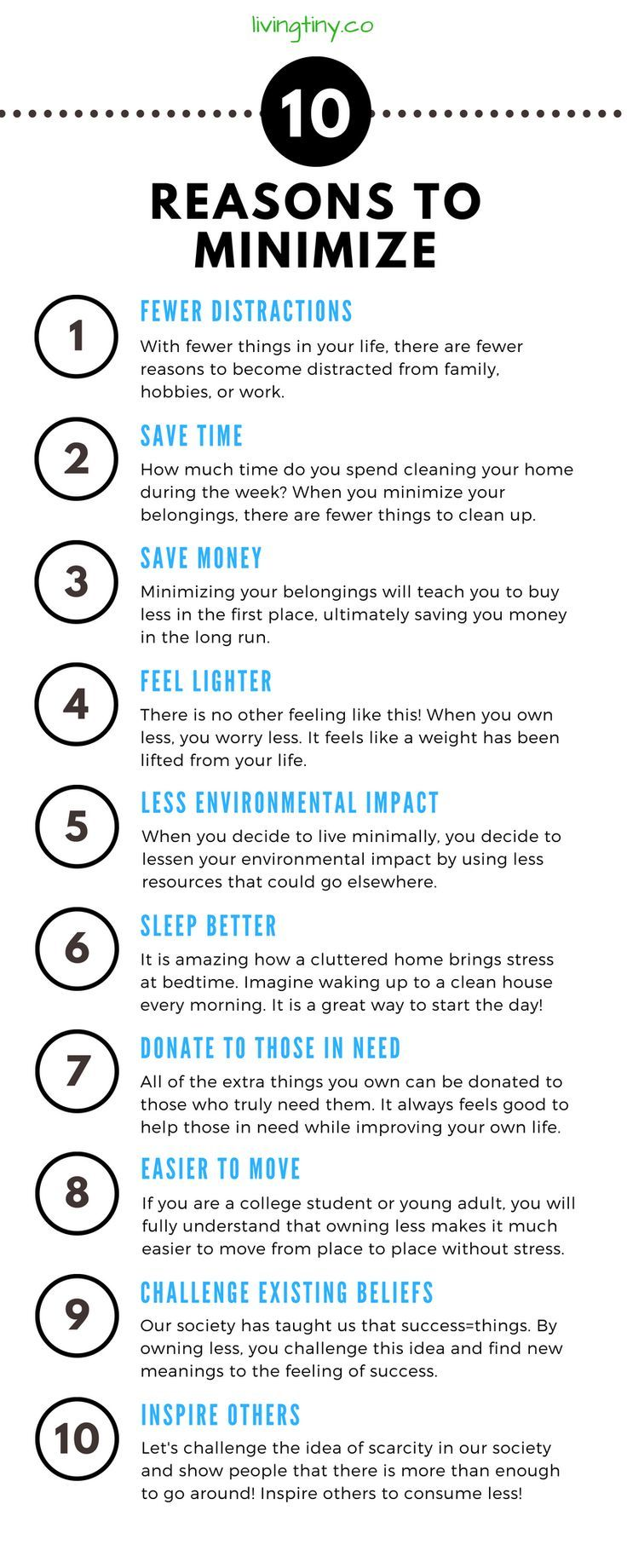 10 Reasons To Minimize How to Minimalist