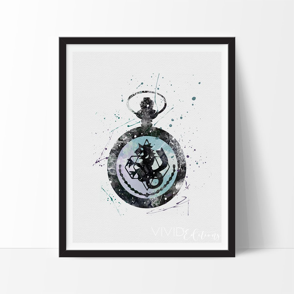 Fullmetal alchemist pocket watch watercolor art print fullmetal description specs processing shipping create your own boy cave with our impressionistic splatter watercolor style handmade art prints jeuxipadfo Image collections