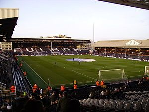 Fulham FC's home grounds, Craven Cottage, is literally right on the banks of the River Thames.