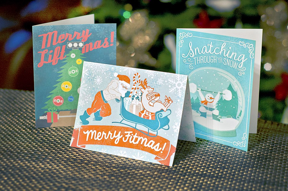 Crossfit christmas gift ideas holiday cards merry