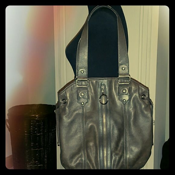 "Leather handbag Olive brown I would say, great size 15?13"" Bags Shoulder Bags"