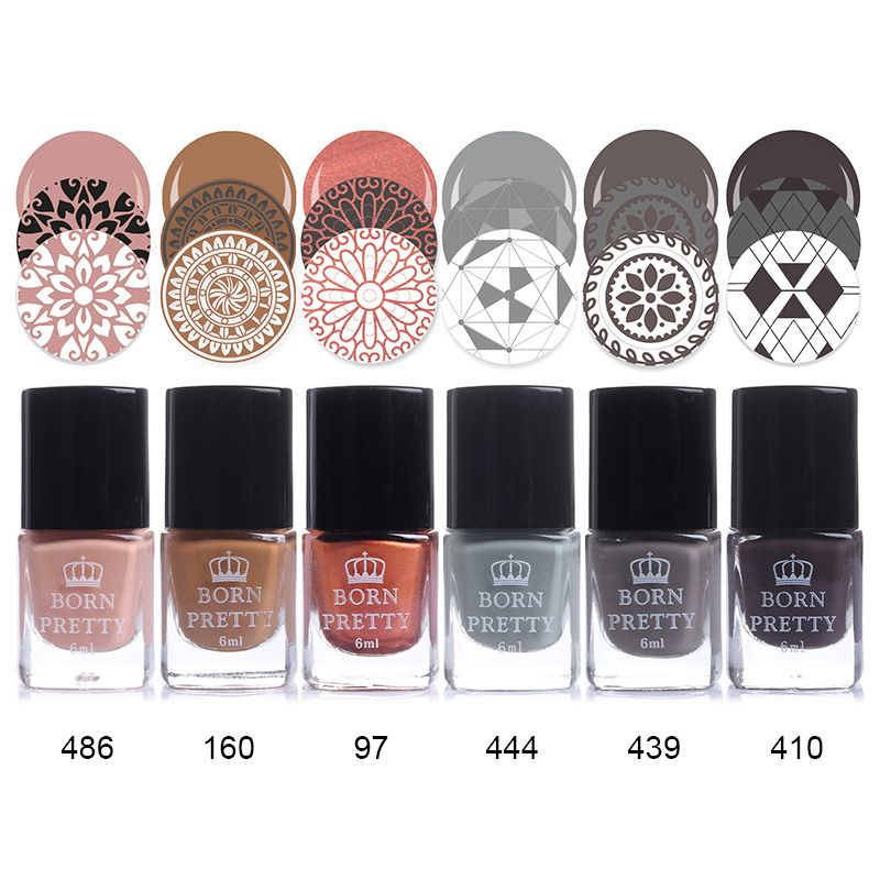 BORN PRETTY 6ml Stamping Polish Lacquer Colorful Nail Art Plate ...