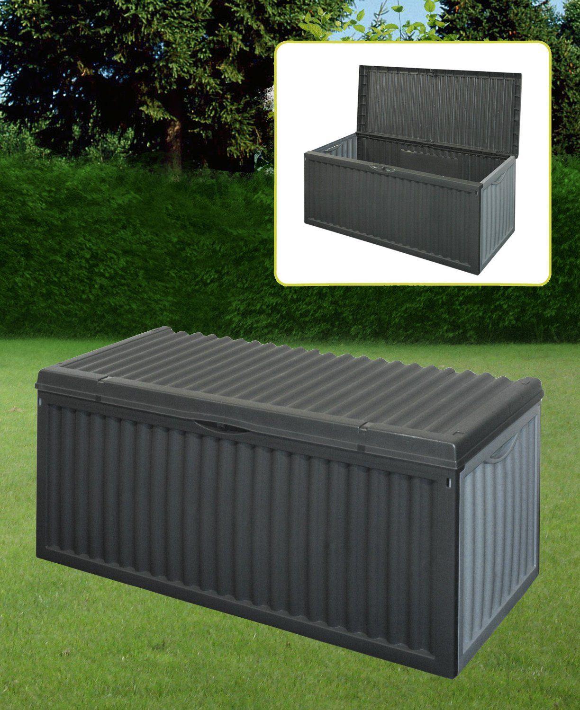 Black Plastic Garden Storage Box With Lid Garden Patio Cushion Storage BoxBLACK PLASTIC GARDEN STORAGE BOX LID PATIO SHED UTILITY CUSHION  . Outside Storage Bins Uk. Home Design Ideas