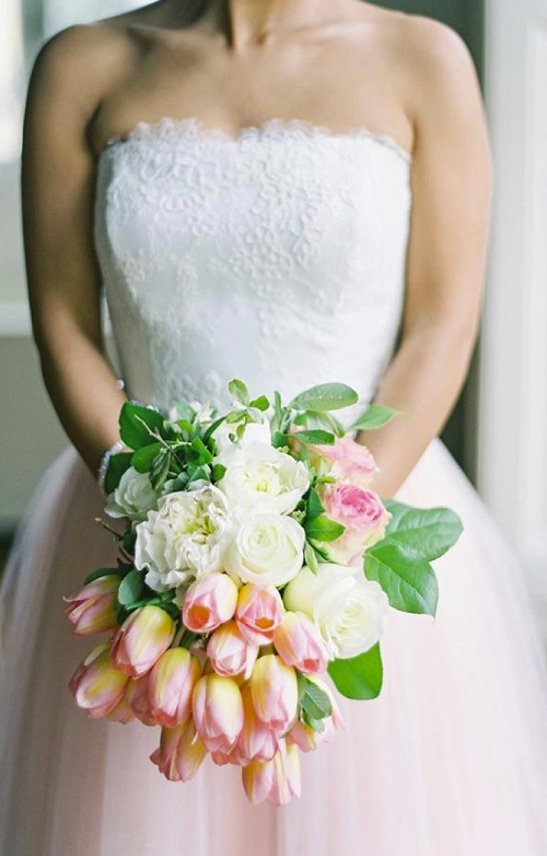Yellow Tulip Cascade Wedding Bouquets How Pretty Are These Pink