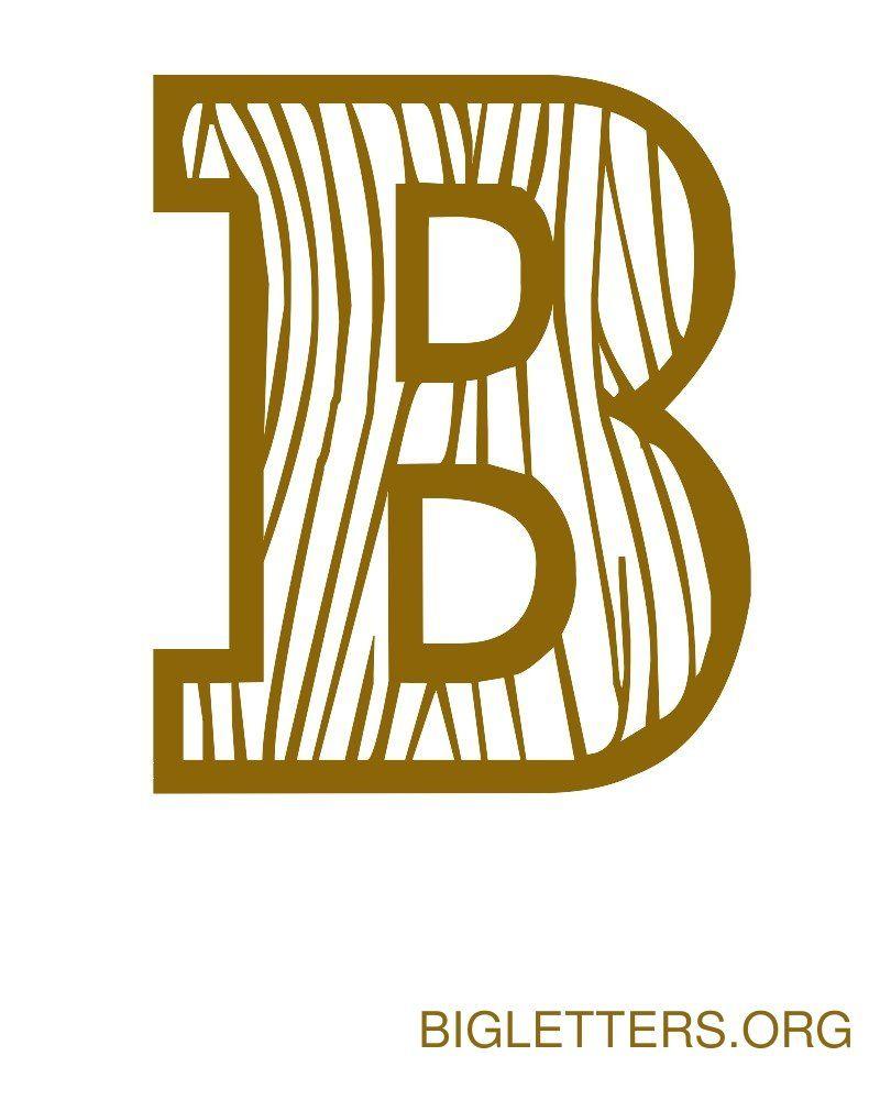 Big Decorative Wood Letter B | fonts | Pinterest | Letter templates ...