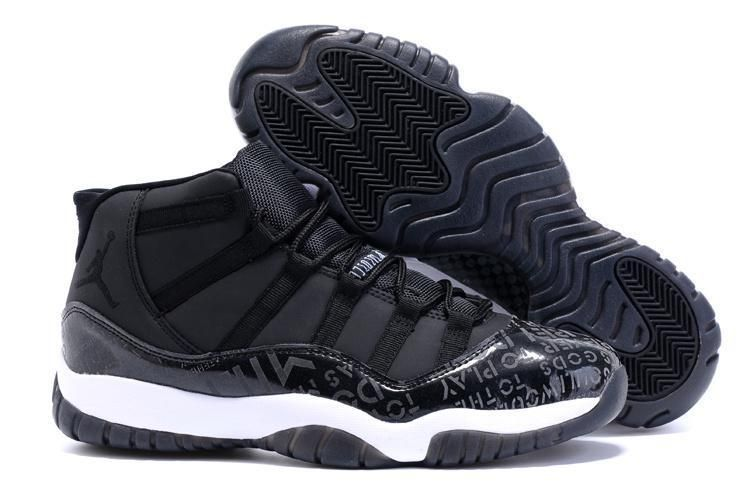 4f97ca920a19 Nike Air Jordan 11 XI Retro English Alphabet Men s Sneakers Black White   fashion  clothing
