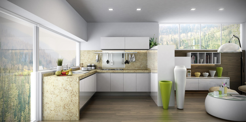 Para que tu cocina se vea m s grande de lo que es elige for Cocinas grandes