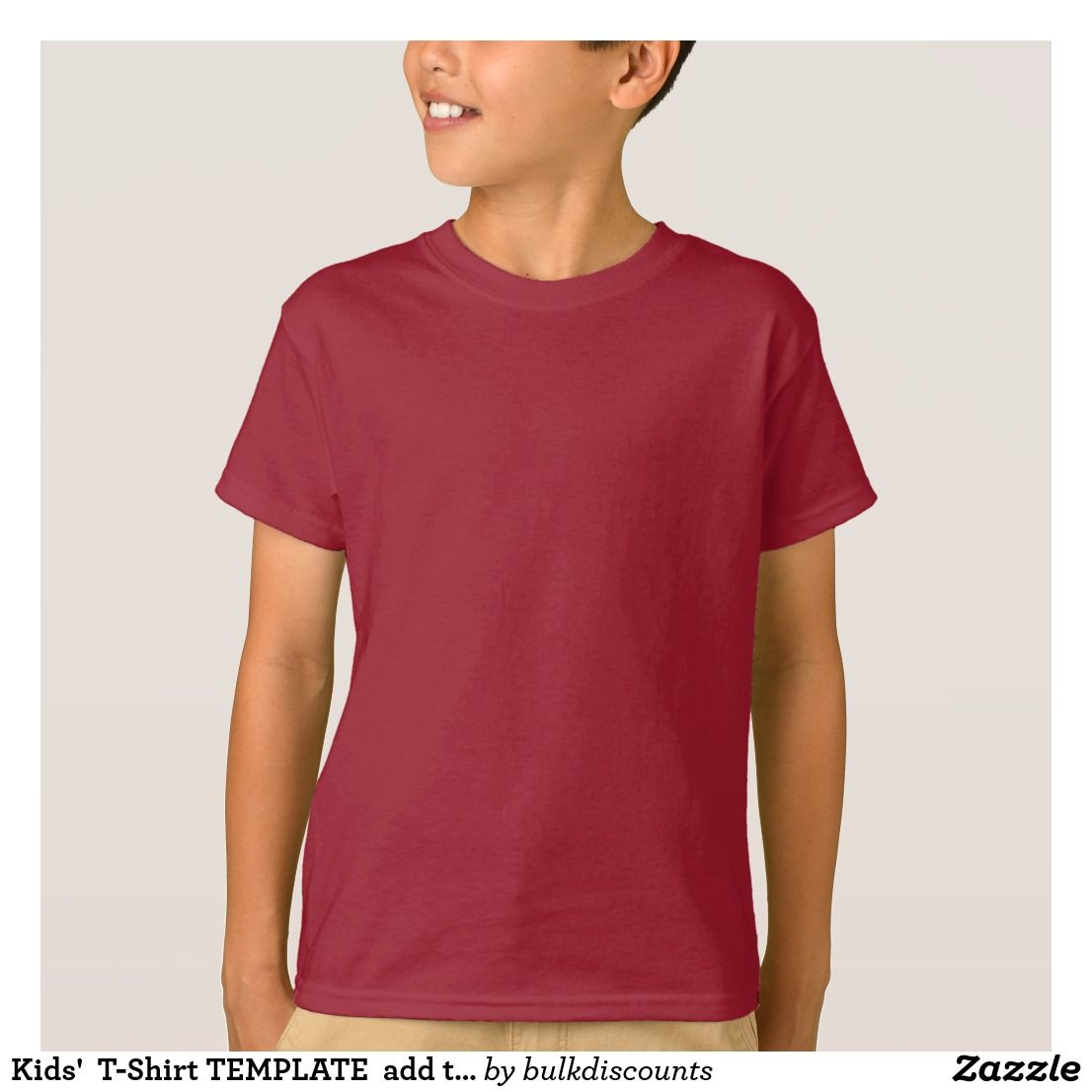 Kids\' T-Shirt TEMPLATE add text quote image FUN | 101 Zazzle PRO ...