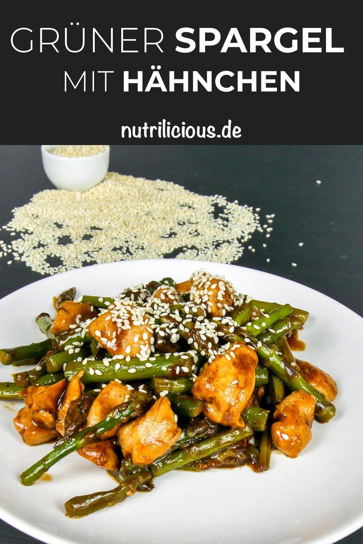 Low Carb: Grüner Spargel mit Hähnchen (Nur 279 Kalorien pro Portion)