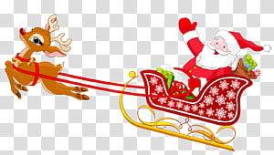 Santa Claus Sled Santa Sleigh Transparent Background Png Clipart Santa Claus Clipart Christmas Hat Transparent Christmas Border