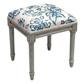 Shop For Toile Rustic Grey Vanity Stool. Get Free Shipping At Overstock.com