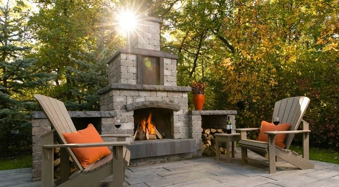 Stone oasis collection outdoor fireplace kit barkman barkman stone oasis collection outdoor fireplace kit barkman barkman teraionfo