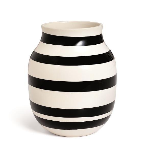 Kähler vase sort hvid ✔️
