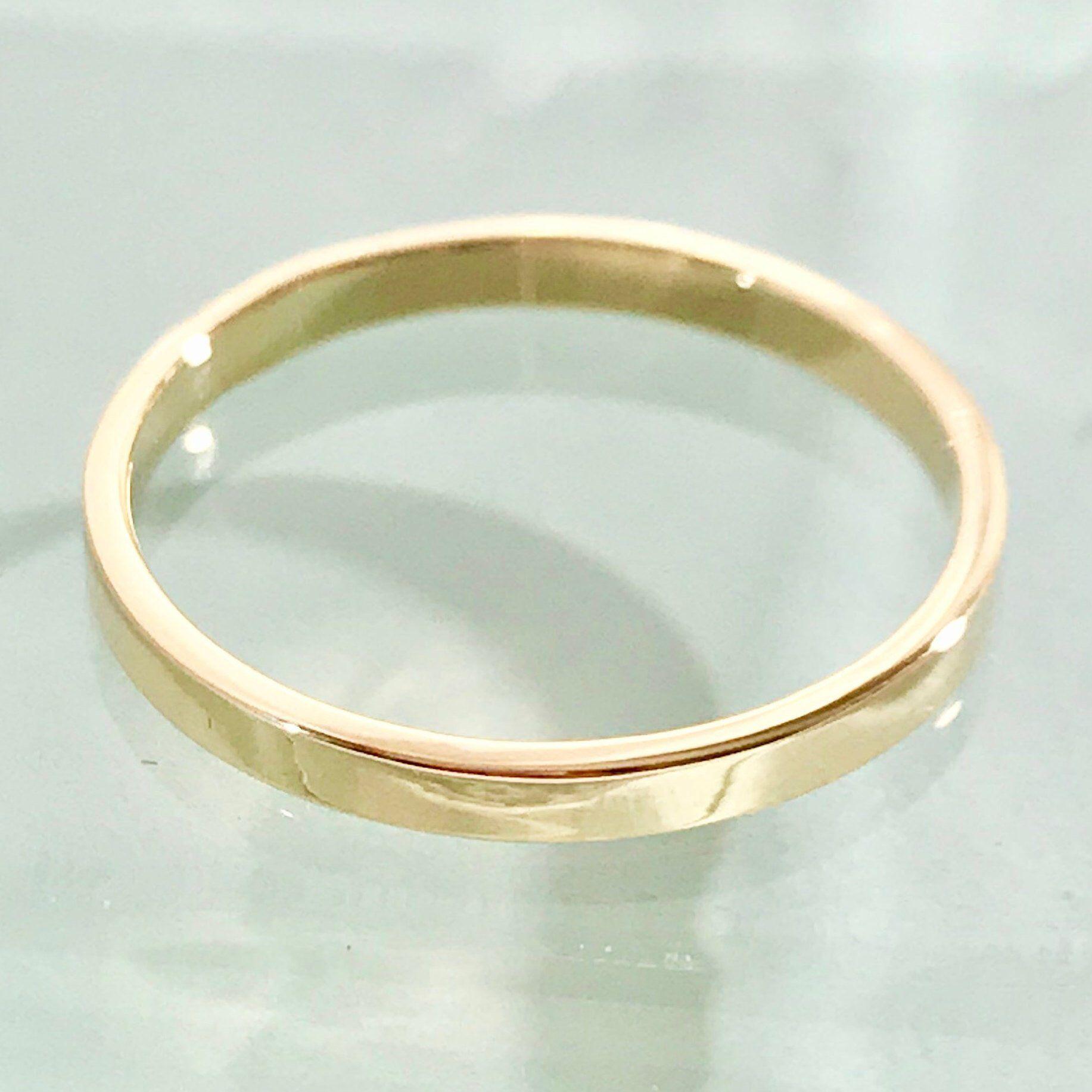 18k Wedding Ring 18k Wedding Band 18k Rectangle Ring 18k Etsy Wedding Ring 18k 18k Wedding Band Wedding Rings Round
