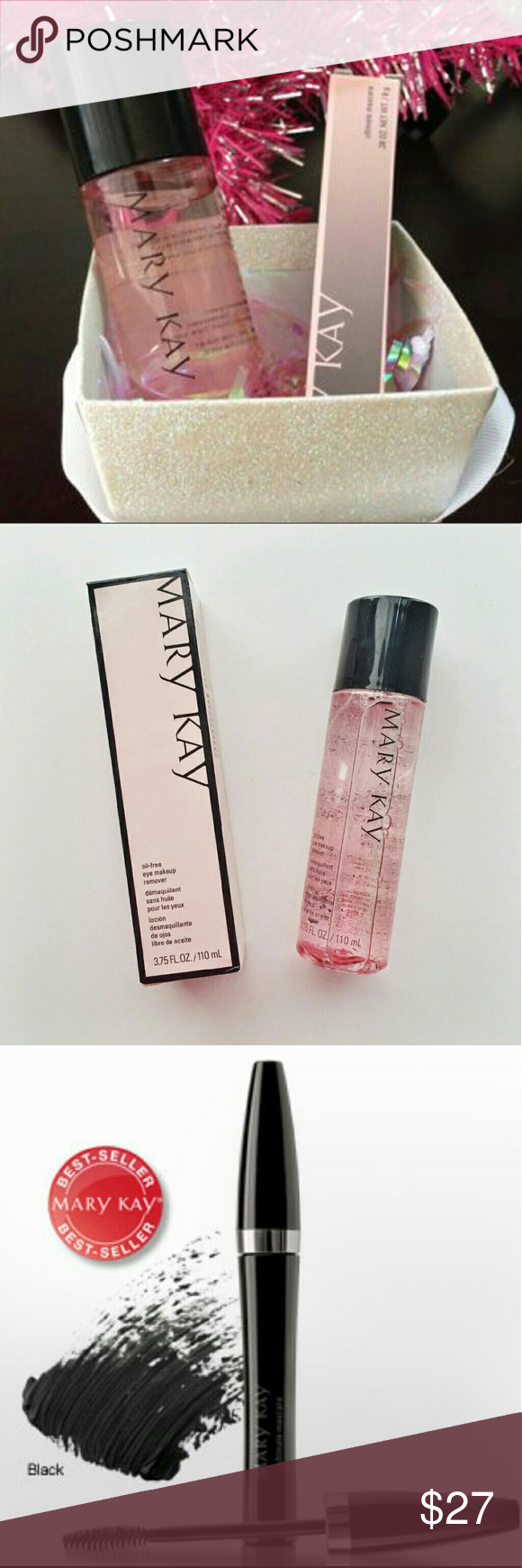 Make-up bundle Oil free Make-up remover and Mary Kay's best top selling mascara in black.  Brand new sorry no trades ship next day. Mary Kay Makeup Mascara