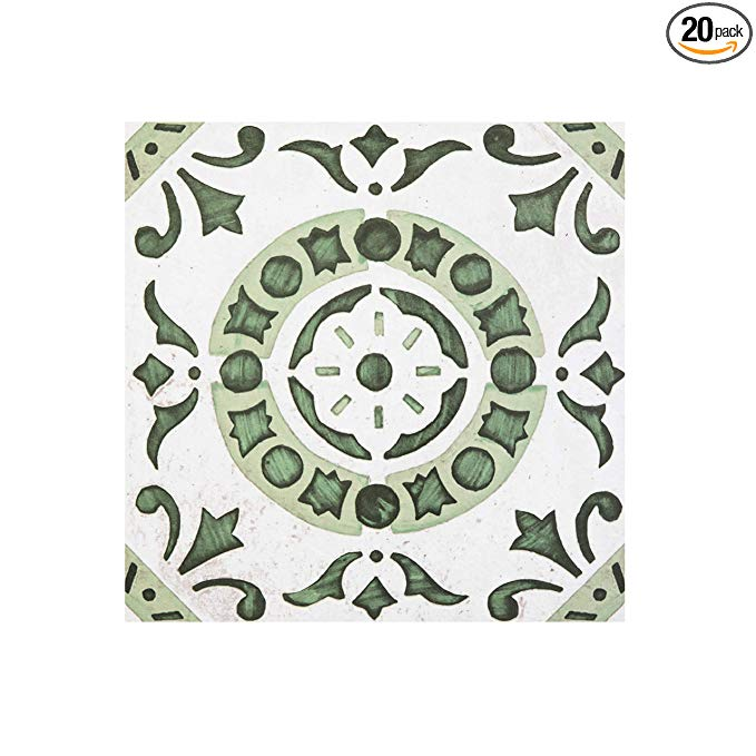 Achim Home Furnishings Rtftv60220 Retro 12x12 Self Adhesive Vinyl Floor Tile Medallion 20 Tiles 20 Sq Ft Green Me In 2020 Vinyl Tile Luxury Vinyl Tile Vinyl Flooring