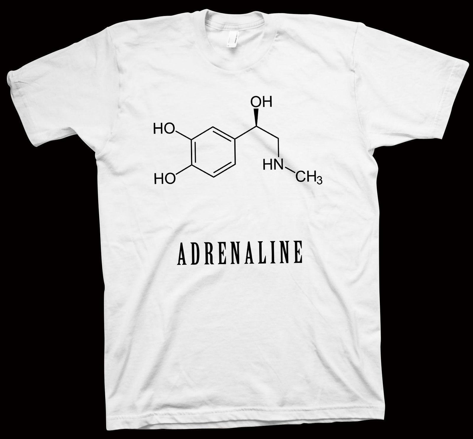 5436bdde3 Adrenaline T-Shirt , Chemistry , Formula , Structure , Science , Tee ,  C9H13NO3 - T-Shirts