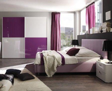 Camera completa matrimoniale, come in foto, colore lilla Camere
