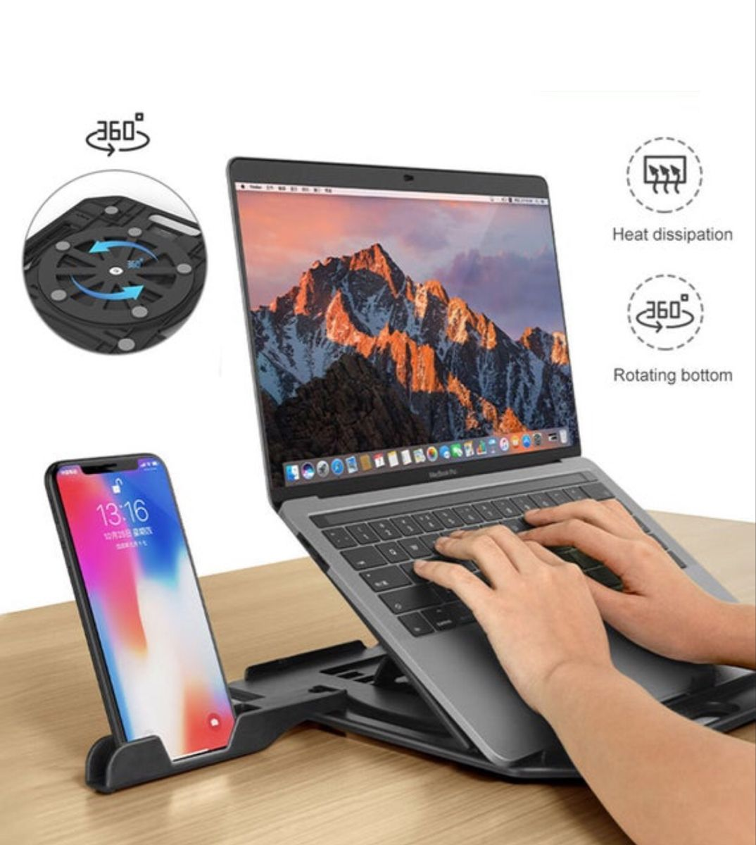 Height Adjustment Laptop Folding Stand For Macbook Lenovo 360