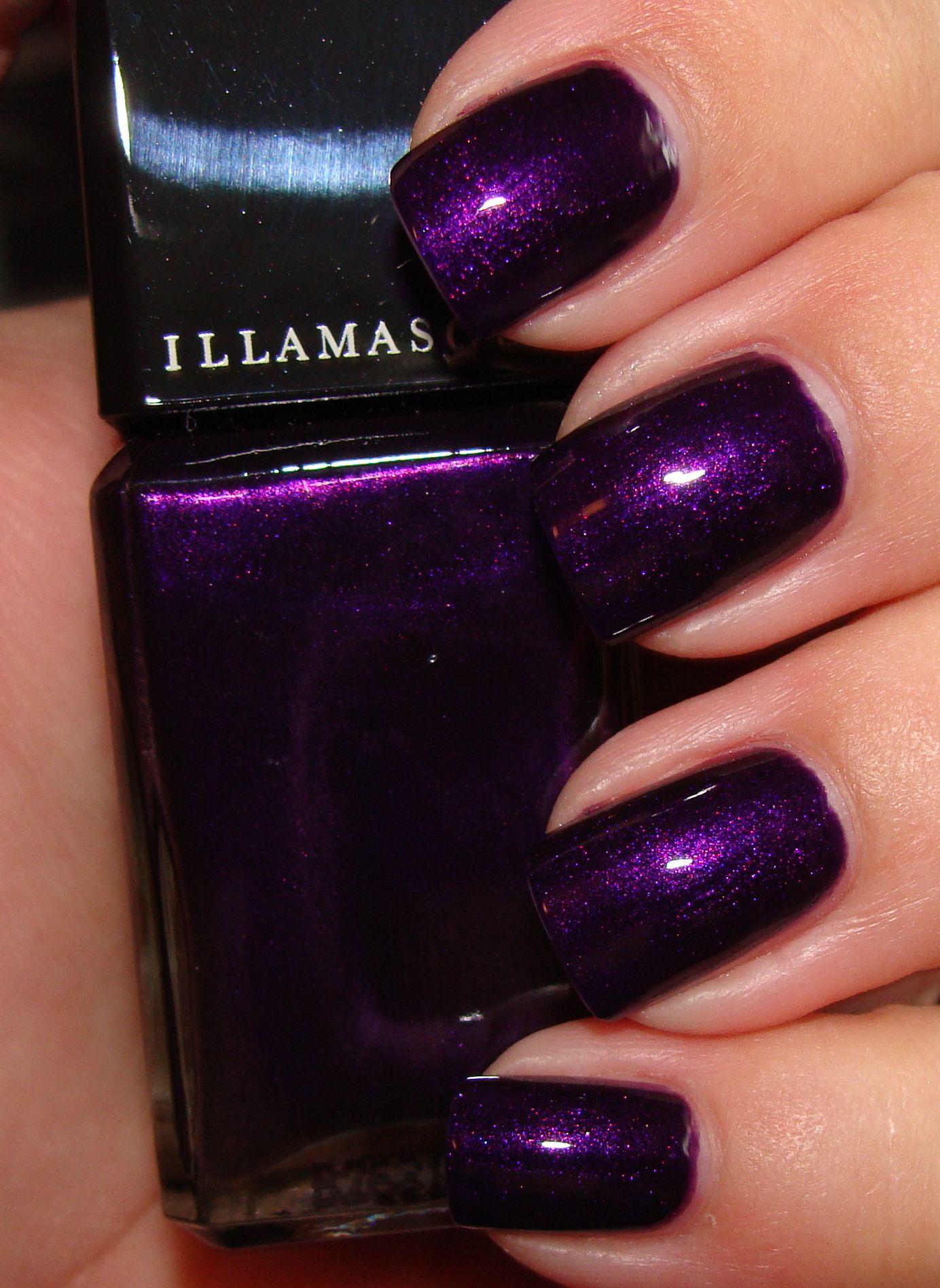 My favorite electro-purple: Illamasqua nail varnish in Baptiste ...