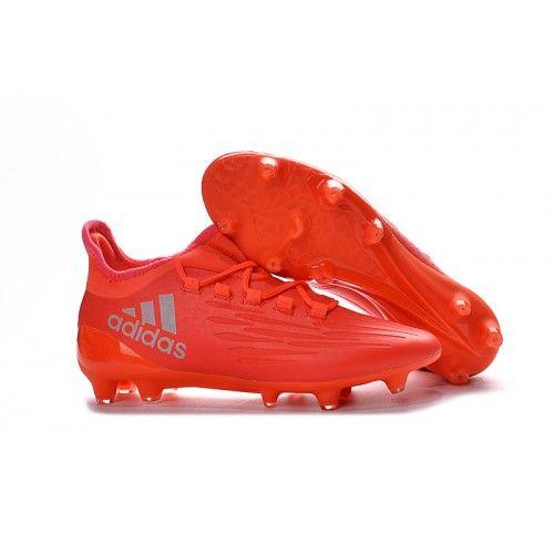 outlet store 289d5 136e8 Adidas X 16.3 FG Hombre Botas de Fútbol Plata Rojo