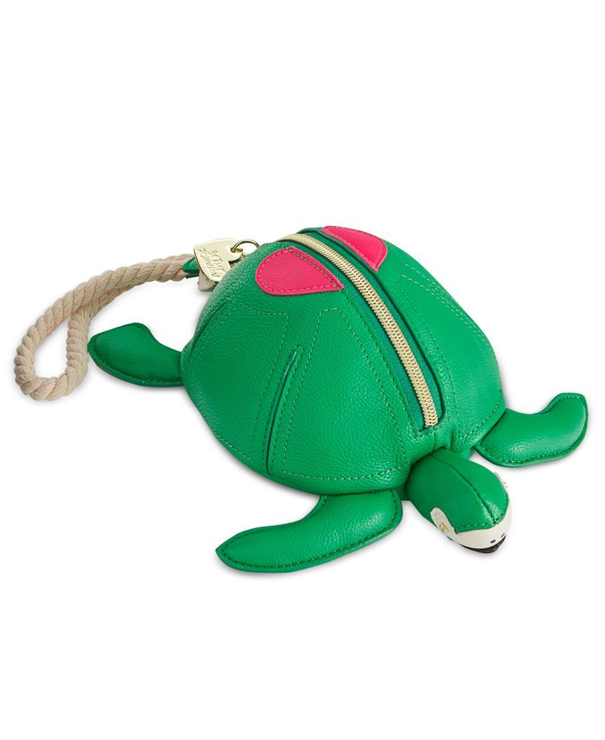 """Take it slow with Betsey Johnson's """"turtle-y awesome"""" fashion wristlet, designed…"""