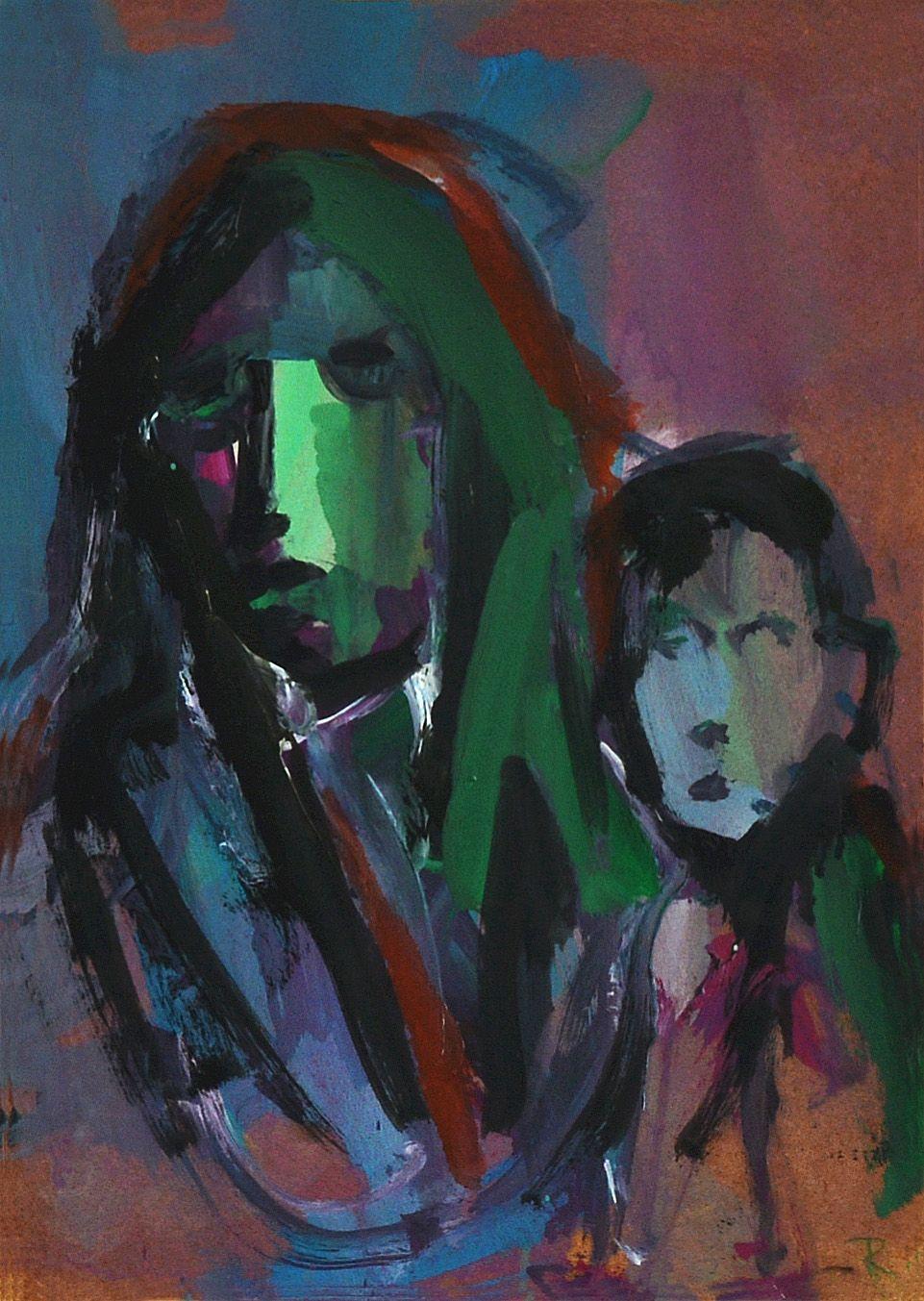 Sin título. Óleo sobre tabla. 40 x 27,5 cm. 2005. - Artista: Jorge Rando
