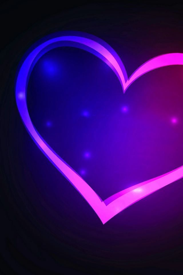 Blue And Purple Heart