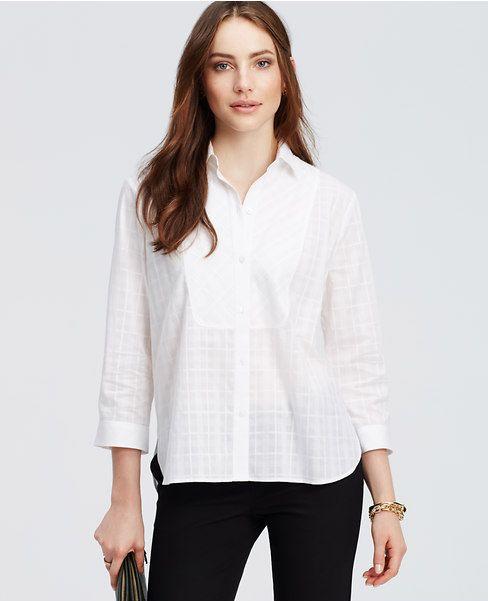 Here is a simplistic bib neckline blouse. | Shirts, Tunic