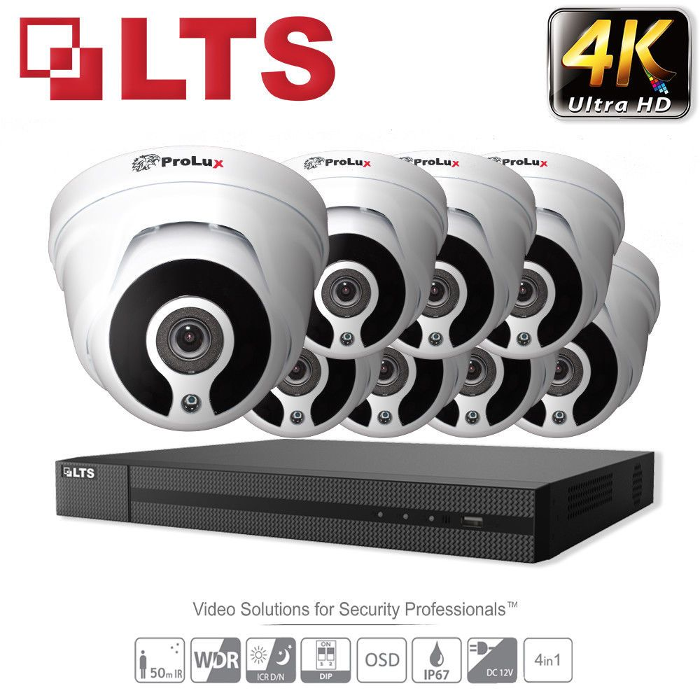 Lts 8mp 5mp 4mp Cctv Security System Dvr 4ch 8ch Recorder 4k Outdoor Full Hd Tvi