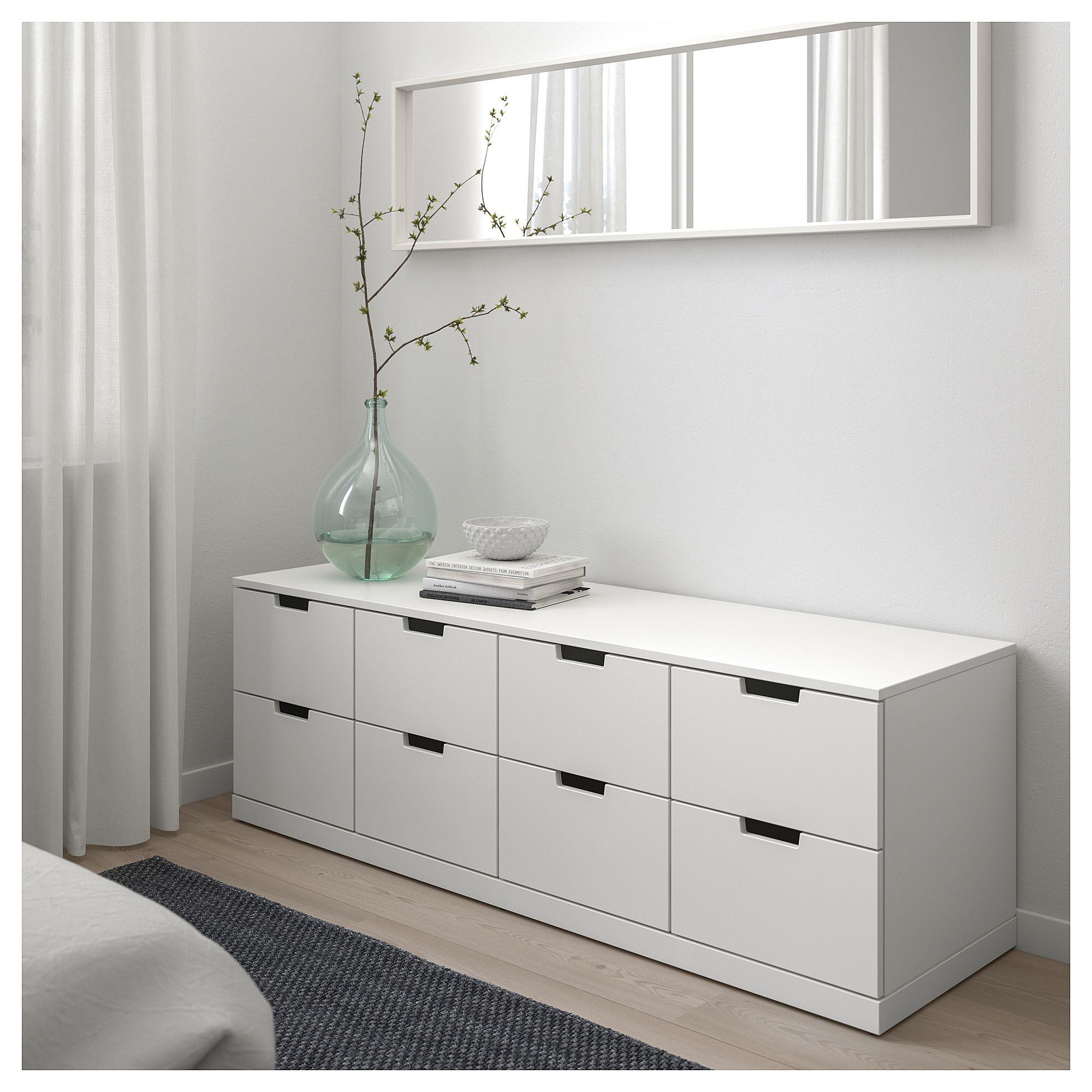 IKEA NORDLI 8drawer dresser white 4 drawer dresser