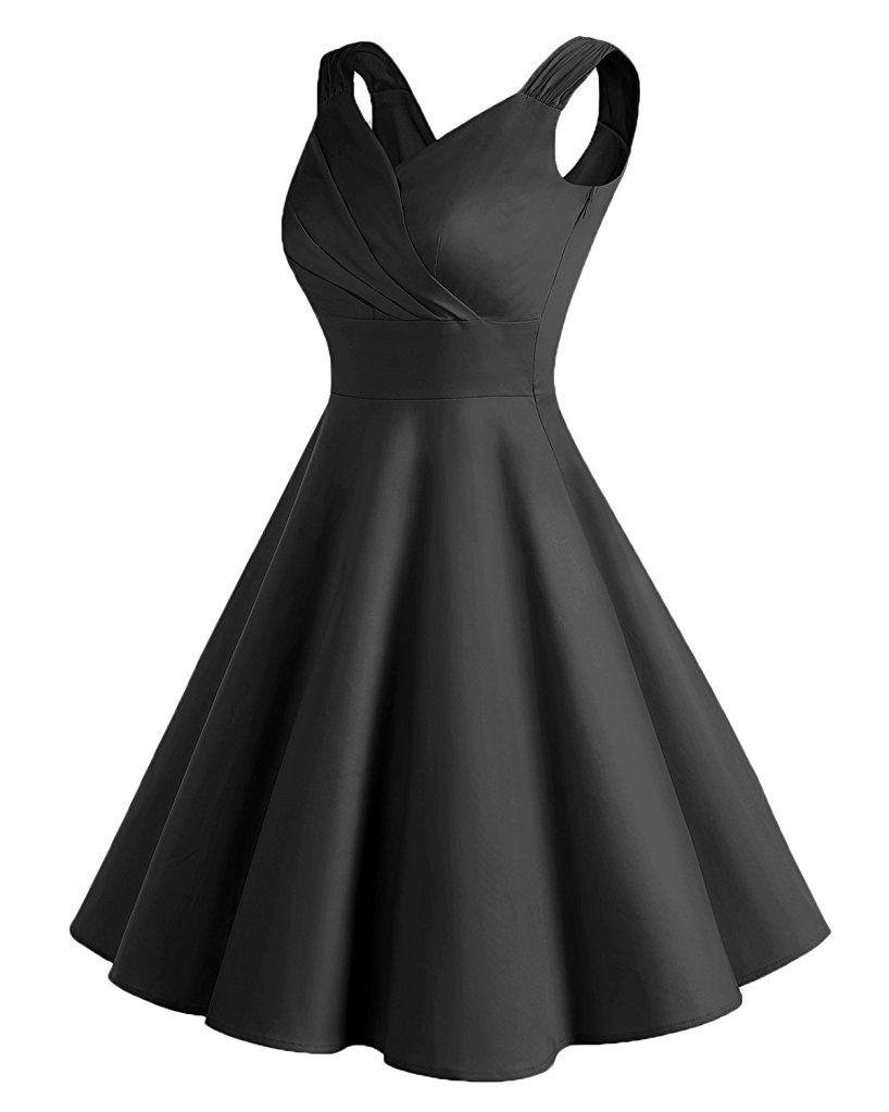 Shoppen Sie Bridesmay Damen Vintage 50S Retro Partykleid Rockabilly ...