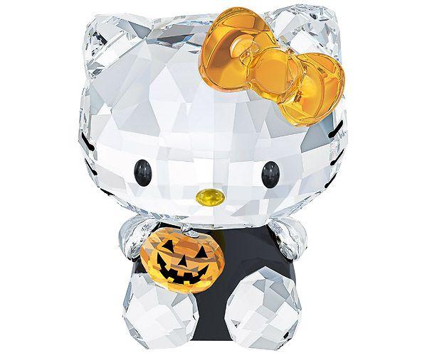 HK❣ HELLO KITTY Swarovski Halloween Crystal Figurine hello - hello kitty halloween decorations