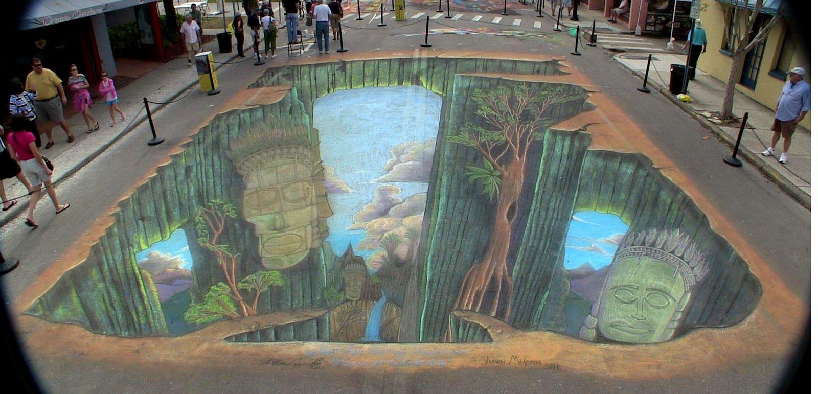 3d street mural for international street painting fest for 3d mural wall