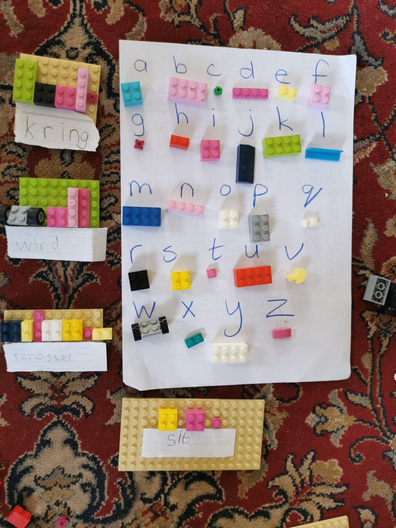 Build Spelling Words With Lego And Code