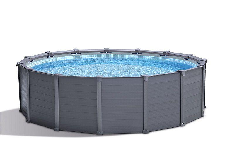 Kit Piscine Tubulaire Graphite O4 17 M Castorama Pool Kunststoffpaneele Swimming Pool