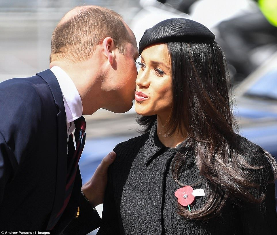 William Embraces Meghan As They Pay Tribute To War Heroes In